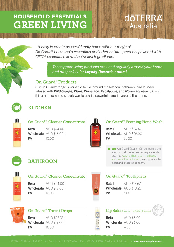 How to 'green' your home with dōTERRA products - dōTERRA ...